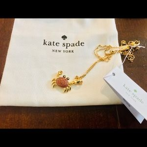 NWT Kate Spade Shore Thing Crab Necklace